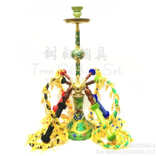 锌合金/铁合金/玻璃/水晶/亚克力/树脂等混合的阿拉伯水烟壶