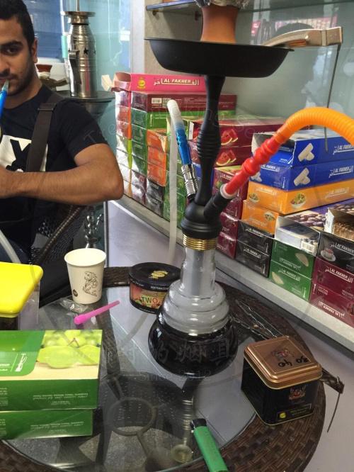 中号全锌合金阿拉伯水烟壶